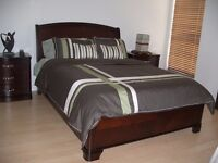 King Size Bed Frame Sleigh Style
