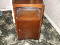 Small Dark Wood Bedside style cabinet cupboard , restoration project - Spinney range