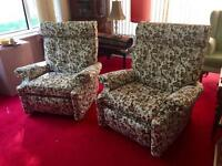 Pretty Pair of Parker Knoll Recliner Arm Chairs