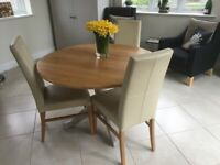 M&S Round Drop-Leaf Dining Table