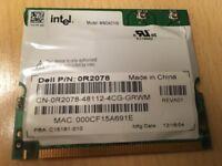 Dell 0R2078 PCI Wireless LAN Network Card Intel WM3A2100 Laptop Wifi R2078 WLAN