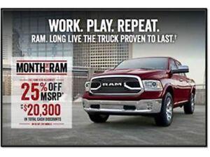 2017 Ram 1500 SLT (140.5 WB - 5.7 Box) 8.4 Touchscreen - Heated