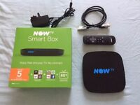 Now TV Smart Box – with original box, remote, cables & instructions