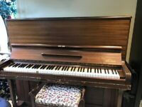 FREE Gelder Upright Piano, TUNED LAST YEAR, stool NOT included