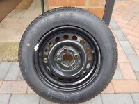 Nissan Micra (1993) Steel Spare Wheel with Dunlop Tyre *BRAND NEW* 155/70/R13