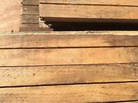 Reclaimed Junkers stripped beech flooring