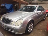 Mercedes E Class. E320 cdi Avantgarde. Full leather. Sat nav. Fsh. Auto. 99k Miles. Silver. Bargain