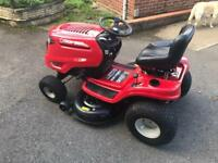 all most new sit on lawn king lawnmower with all Service parts and books no grass Box