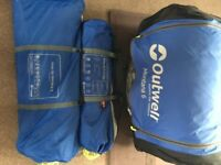 Outwell Montana 6 tent with canopy. Used