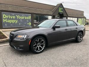 2017 Chrysler 300 300S / LEATHER / 20 HYPER BLACK RIMS