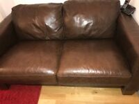 TWO sitter sofa leather