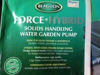 Force Hybrid solids handling water garden pump