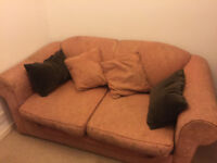Sofa Bed from John Lewis in Cinnabar colour