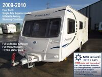2009-2010 BAILEY PAGEANT CHAMPAGNE 4 BERTH – SERIES 7 – INFLATABLE AWNING – END BATHROOM - NEW TYRES