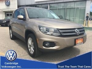 2015 Volkswagen Tiguan Comfortline 4Motion With Low Kms