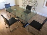 Dining table and 4 chairs from Reid cost £700