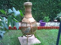 Lovely garden wood burning chimenea