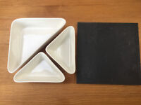 4 piece Triangular Kit with side platter