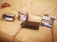 Playstation 2 with lots of games