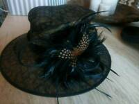 Brand new. Black and brown formal hat.