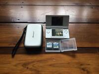 Nintendo DS (white) with case + games