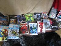 comics, books and graphic novels