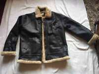 Atmosphere ladies faux leather coat jacket black size 14 fur inside £5used
