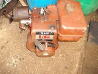 Rotavator Up Right Engine (has been started) No Carburetor