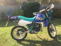 KAWASAKI KMX 125cc P REG 1997 BLUE 2 STROKE RARE !!!!!!!