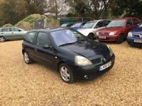 2005 Renault Clio 1.4 Dynamic 16v 10 Months MOT 2 Keys Cheap Car