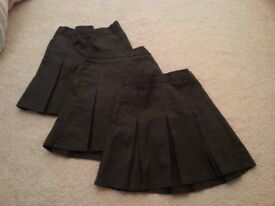M&S School Uniform, Grey Skirts (3-4 Years) and Green Cardigans (5-6) & Tights (6-7), SPFH, VGC
