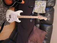 white fender strat with dave gilmour pickups