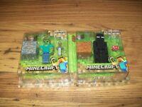 Minecraft figures.