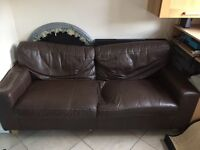Free brown faux leather sofa in Holloway