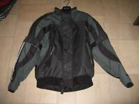 Nitro Racing N35 Motorcycle jacket Black & Silver with fitted protective plates.