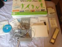 Wii console and fit board (no controller) + wii sports game disk