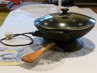 Electric Wok - tabletop inlcuding accessories and instructions