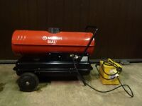 Munters Sial Portable Diesel Fired Indirect Space Heater Ideal for Garage / Workshop - 110v