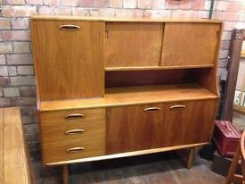 VINTAGE RETRO MID CENTURY G PLAN STYLE TEAK LOUNGE UNIT SIDEBOARD (3 DRAWERS)