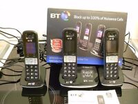BT 8500 Cordless Phones Triple with Answerphone and Advanced Call Blocker