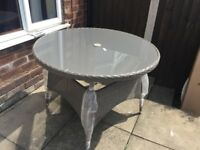 Grey rattan garden table, NEW!! Taken out of box to photograph. £100 ono