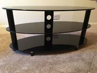 TV stand - 3 tier black