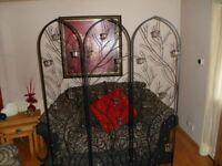 Large Wrought Iron Decorative Screen.