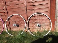 Fixed wheel set. Fixie. Track bike