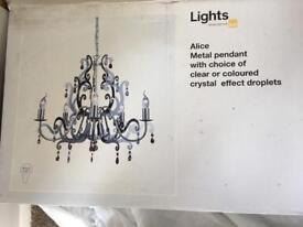 Brand New Chrome Chandeliers in box