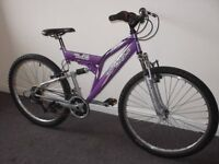 Holiday Treat !!!BOYS & GIRLS !!A1 condition! British Eagle Full Susp. 26'' UNSEX BIKE.£75.00