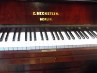 upright piano by c bechstien rosewood -pianos required-