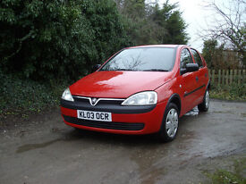 vauvhall corsa 1.2. 5 door hatch . excellent drive .very tidy . cdplayer service history. remote l