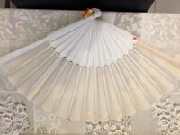 5 Authentic Spanish Wedding Fans (Never Used)