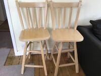 Rotating pine stools